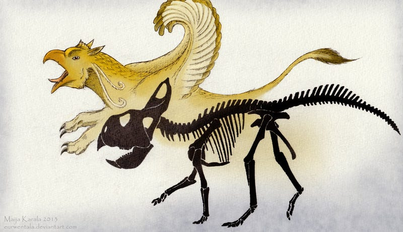 Illustration for article titled We've Discovered the Fossilized Remains of a Griffin