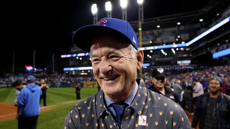 Let's all argue about whether this photo is Bill Murray, or a man whose brain is now permanently infused with joy. (Photo: Ezra Shaw/Getty Images)