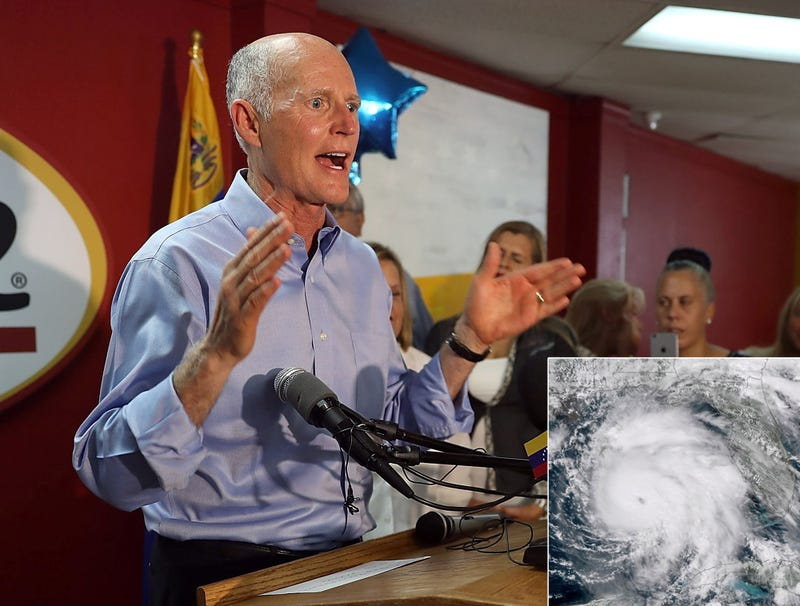 Illustration for article titled Rick Scott Orders Hurricane Michael To Evacuate From Florida