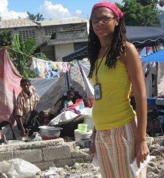 Theola Labbé-DeBose in Haiti.
