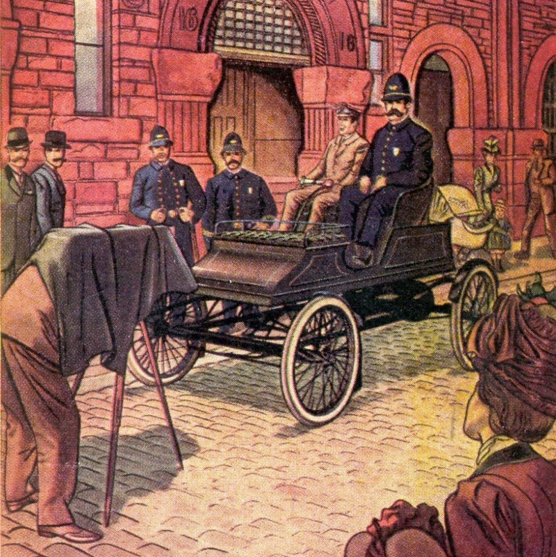 Illustration for article titled Boston's First Police Cars Were Steam-Powered
