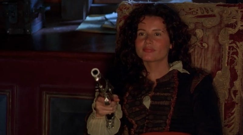 Geena Davis as Morgan Adams.