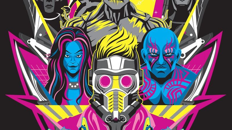 Illustration for article titled There are a lot of fan-made posters for Guardians Of The Galaxy already