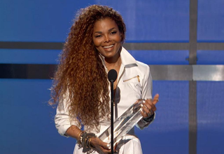 Janet Jackson accepts the Ultimate Icon Award at the 2015 BET Awards.BET Screenshot