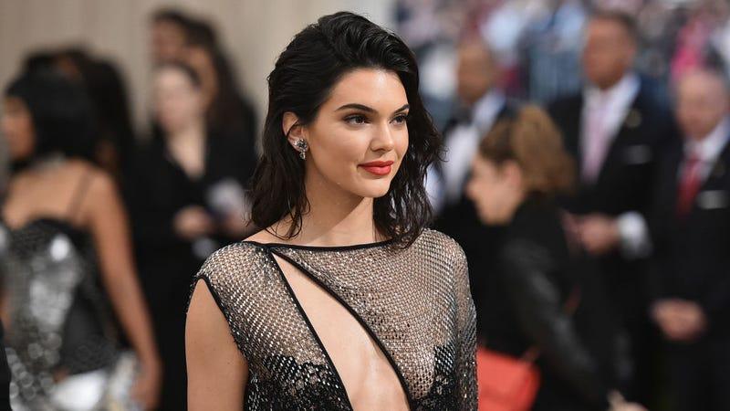 Jenner wearing La Perla at the 2017 Met Ball / Image via Getty