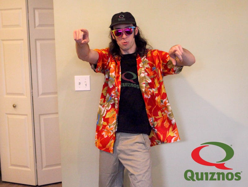 Illustration for article titled Quiznos Releases New 6-Foot-Long Party Man