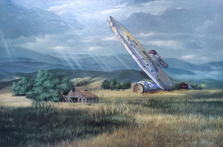 Illustration for article titled The Time Travelers Hidden In Thrift Store Paintings