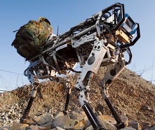 Illustration for article titled Darpa Wants Bigger, Smarter BigDog 'Bot To Help in Combat