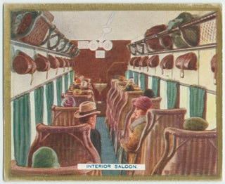 Illustration for article titled Passenger Air Travel in the 1920s As Told Through Cigarette Cards