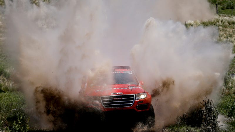 Illustration for article titled Great Wall Rally Rig Clears Its Own Scrub