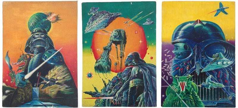 Illustration for article titled Here's Your Chance To Own This Legendarily Weird Star Wars Poster Art