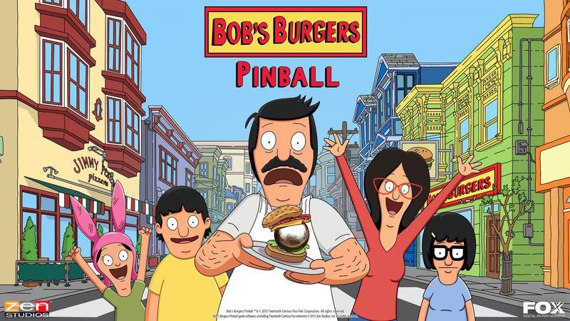 Illustration for article titled Zen Pinball 2 is getting a Bob's Burgers table