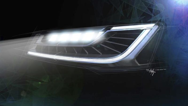 Illustration for article titled How Many LEDs Does The Audi A8 Need To Beat The Mercedes S-Class?