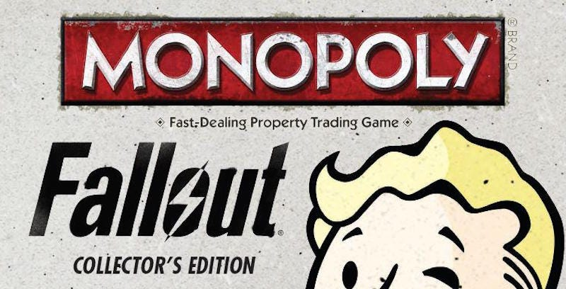 Illustration for article titled Fallout Monopoly Is Coming [UPDATE]