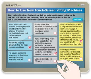 Illustration for article titled How To Use New Touch-Screen Voting Machines