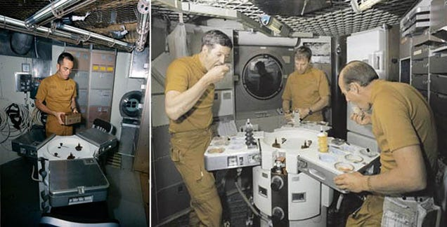 astronauts eating in outer space - photo #13
