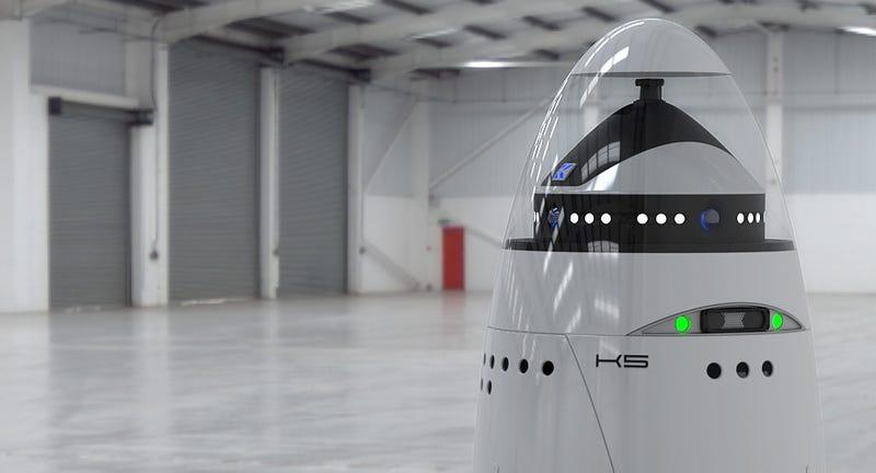 Illustration for article titled Este robot guardián pronto te vigilará con todos sus sensores