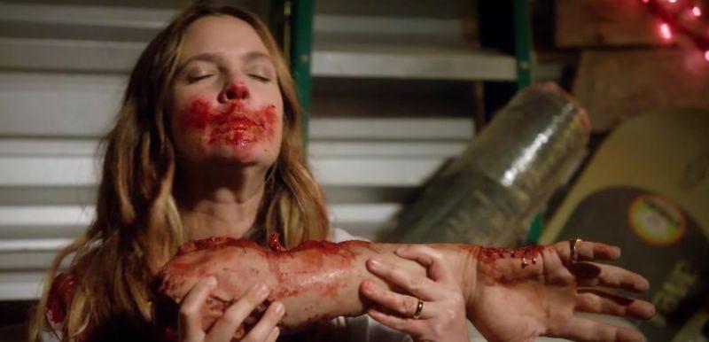 Drew Barrymore en Santa Clarita Diet. Imagen: Netflix