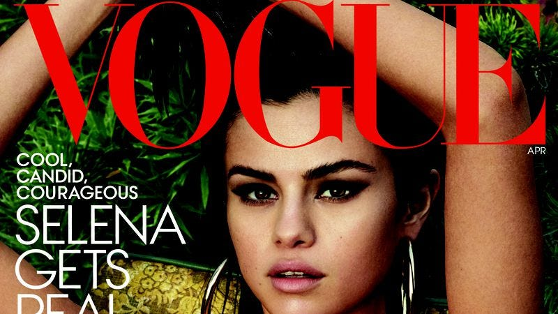Illustration for article titled Selena Gomez suffers sexist fools in paternalistic Vogue cover story