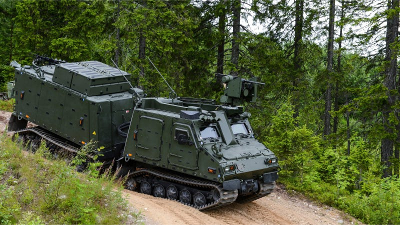 Illustration for article titled Super Cute Tiny Treaded Vehicles Of The Swedish Military