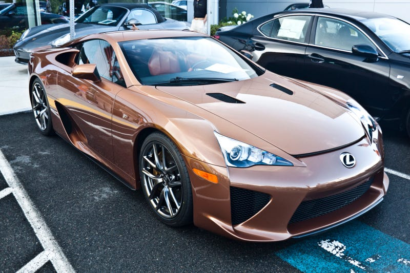 Illustration for article titled This is one brown Lexus LFA