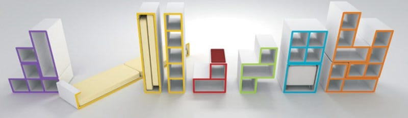 Illustration for article titled Tetris Furniture That's as Practical as It Is Russian