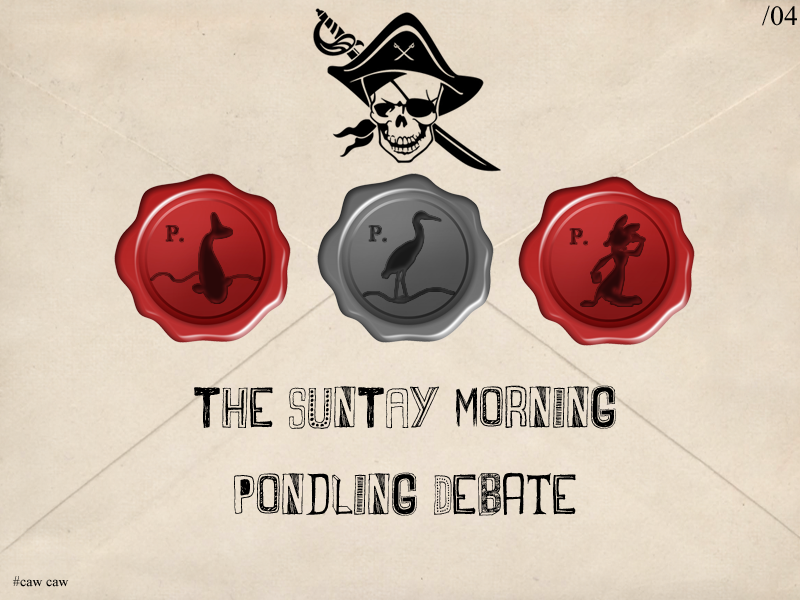 Illustration for article titled The SunTAY© Morning Pondling Debate - Issue 04