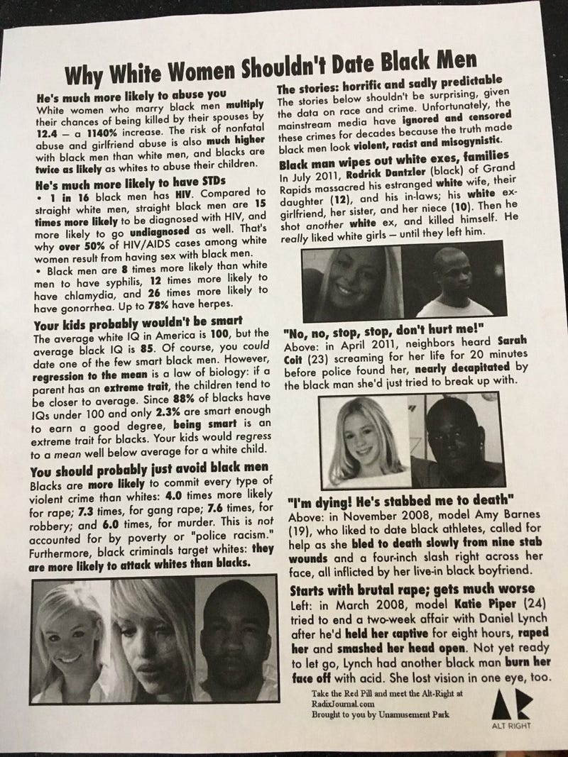 One of the fliers found on campus at the University of MichiganUniversity of Michigan Black Student Union via Twitter