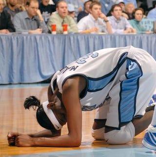 Rashanda McCants of the North Carolina Tar Heels during a game against the Duke University Blue Devils Feb. 8, 2007, at Carmichael Auditorium in Chapel Hill, N.C.Grant Halverson/Getty Images