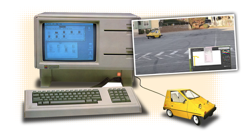 Illustration for article titled Delightful Nerds Turn A Car Into A Functional Computer Mouse