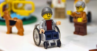 Illustration for article titled Lego's First Minifigure in a Wheelchair is Embarrassingly Overdue