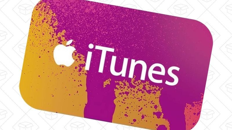 Tarjeta regalo iTunes $50   $43   eBay