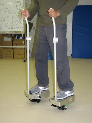 Illustration for article titled Nissan's Idea Of A Personal Mobility Device Is A Pair Of Skis on Stilts