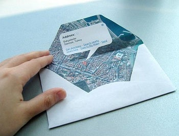 Illustration for article titled The Map-as-Envelope Incorporates Directions in Your Snail Mail