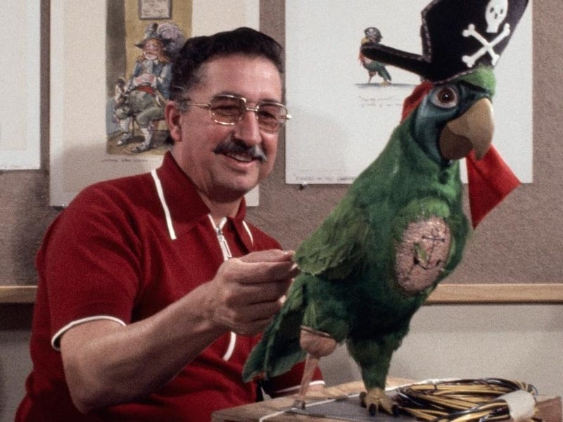 """Xavier """"X"""" Atencio, Disney Imagineer and former animator who passed away this past weekend at the age of 98 (Disney)"""