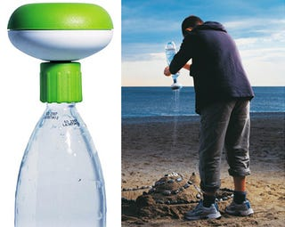 Illustration for article titled Gadget Turns Your Water Bottle Into a Portable Shower