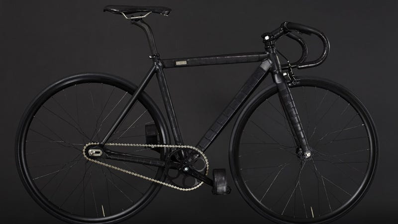 Illustration for article titled This Luxurious Stealth Bicycle Is Clad in Crocodile Skin