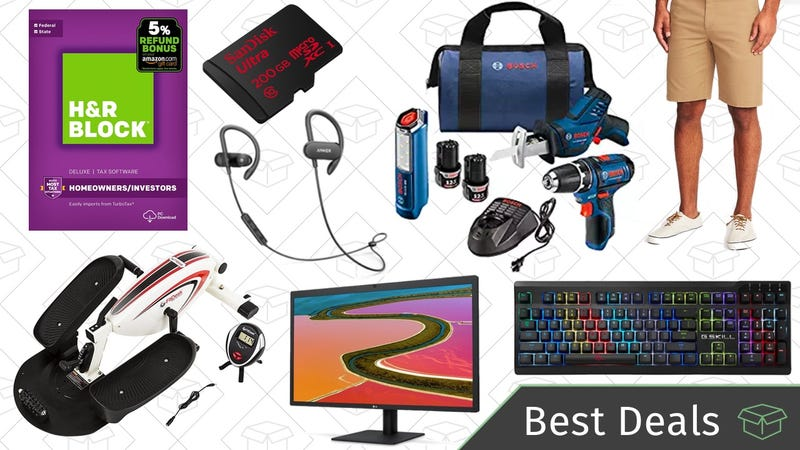 Illustration for article titled Wednesday's Best Deals: 5K Monitor, Bosch Tool Kit, Tax Software, and More