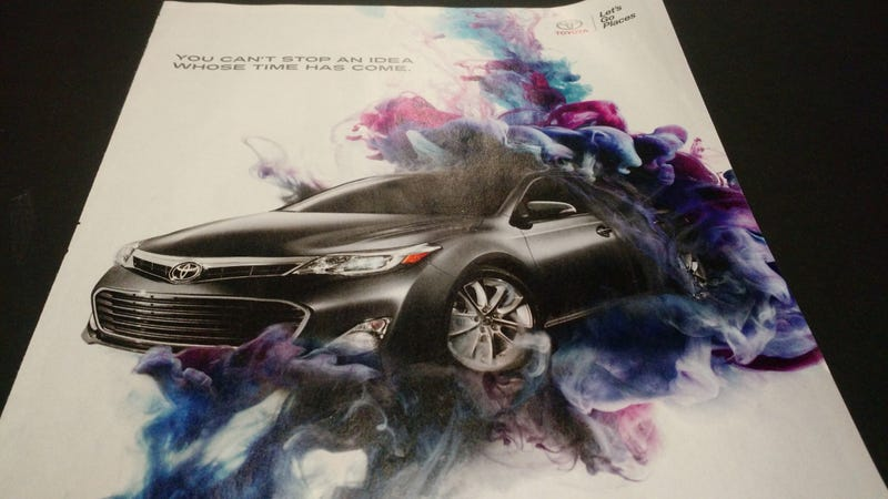 Illustration for article titled Ya' Know What This 2013 Avalon Ad Looks Like?