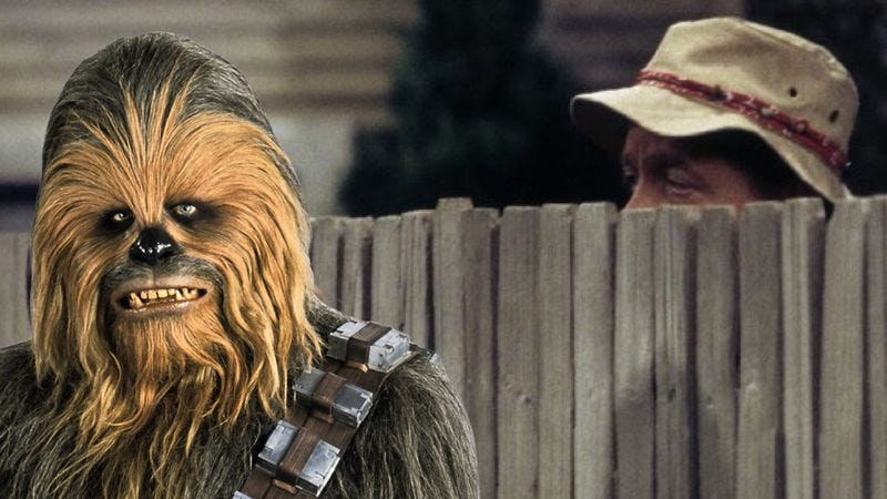 Illustration for article titled Chewbacca Tim Allen makes a little too much sense