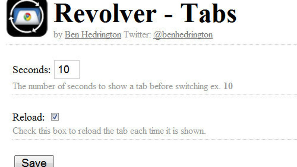 Revolver-Tabs Refreshes and Rotates Tabs in Google Chrome