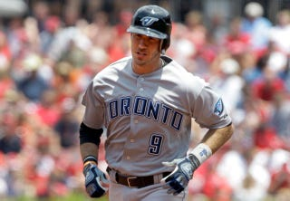 Illustration for article titled Don't Dare Mention J.P. Arencibia's Insanely Low Batting Average