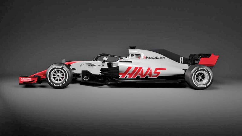 haas shows off the first halo f1 car and it doesn 39 t look bad after all. Black Bedroom Furniture Sets. Home Design Ideas