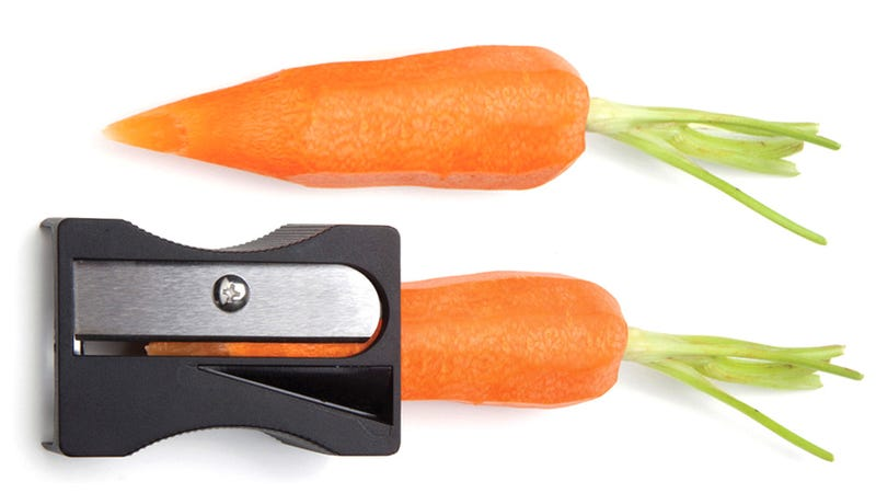 Illustration for article titled This Giant Sharpener Could Be the Safest Way To Peel Your Vegetables