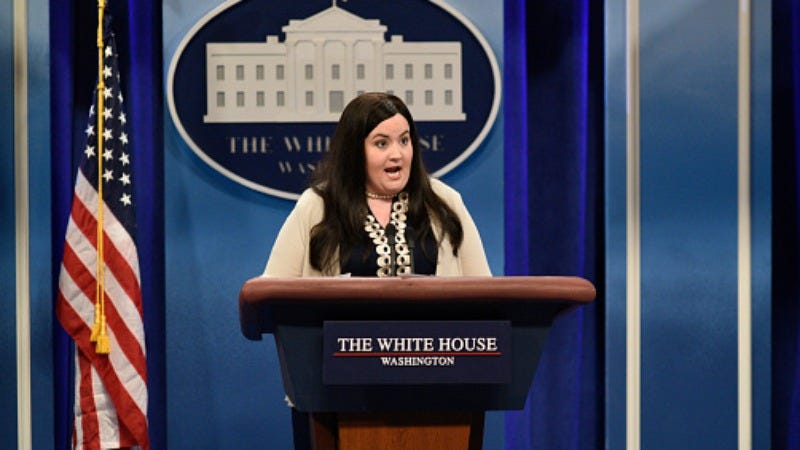 Aidy Bryant as Sarah Huckabee Sanders on Saturday Night Live  (Photo: Will Heath/NBC/NBCU Photo Bank via Getty Images)