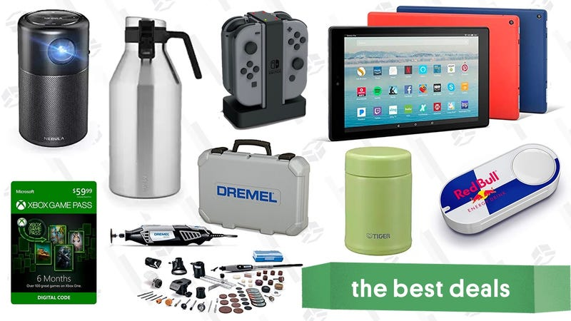 Illustration for article titled Tuesday's Best Deals: Fire Tablets, Dremel, Portable Projector, and More