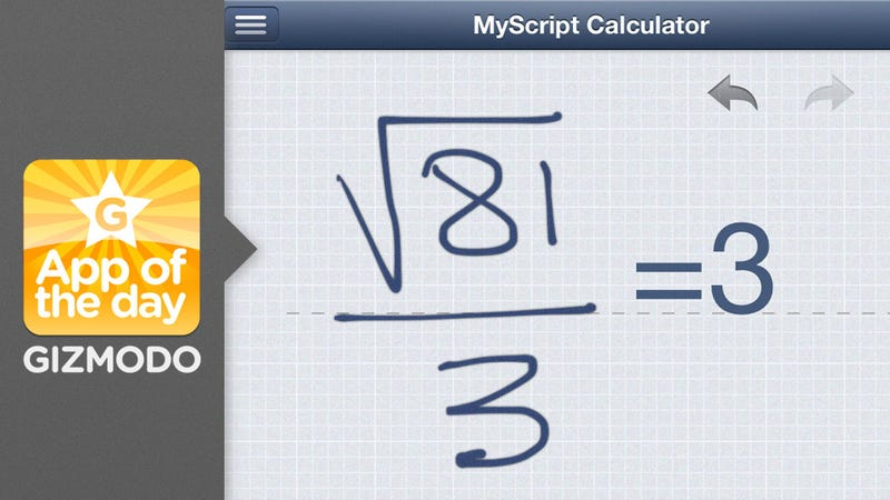 Illustration for article titled MyScript Calculator: Somehow Calculators Just Got Even More Convenient