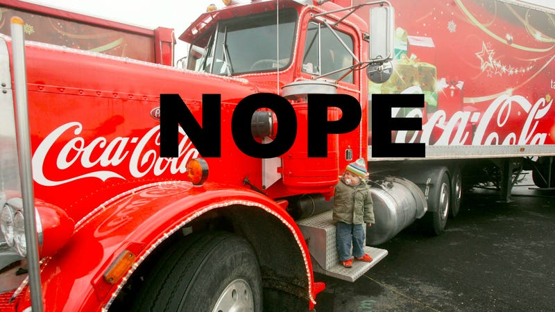 Illustration for article titled British MP Takes a Brave Stand Against Christmas in the Form of a Coca Cola Truck
