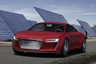 Illustration for article titled Audi R8 e-Tron Concept: Photos