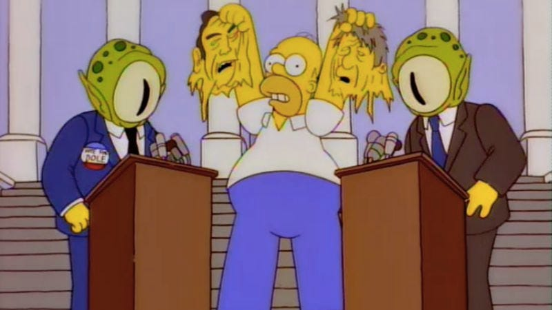 Illustration for article titled How The Simpsons mastered the art of neutral political satire